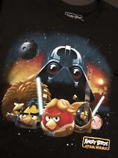 Official Angry Birds Star Wars T-Shirt Men Size Large New Black