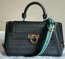 Salvatore Ferragamo Sofia Dentelle Leather Satchel PRICE: $2,500.00