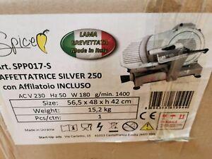 Spice – Paprika Plus – Aufschnittmaschine Profi Druckguss Aluminium – Klinge MAD