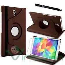 Pellicola+Pennino+Custodia Rotante MARRONE pr Samsung Galaxy Tab S 8.4 T700 T705