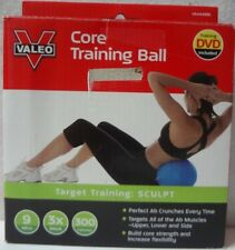 Valeo Fitness Gear Core Training Ball with Training DVD Blue  -1