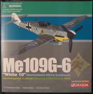 "Dragon Wings Warbirds Me 109G-6 ""White 10"" Oberleutnant Alfred Grislawski 50275"