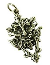 CELTIC TREE SPIRIT GREEN MAN 925 STERLING SILVER PENDANT LEATHER NECKLACE & BOX