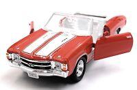 1971 Chevrolet Chevelle Ss 454 Modellino Auto Rossa Auto Scala 1:3 4 (Licenza)