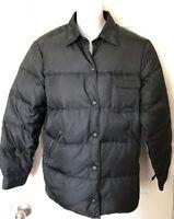 Armani Jeans Women's Size 8 Medium Down Puffer Jacket Snap Closure Black Rg $240