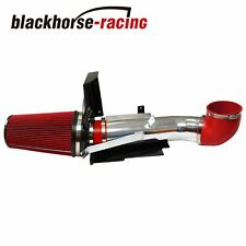 """Fit Gmc/Chevy V8 4.8L/5.3L/6.0L 4"""" Heat Shield Cold Air Intake System+Filter Red"""
