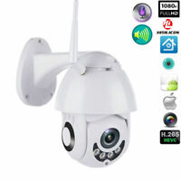 1080P WIFI IP Camera WHITE Wireless Outdoor CCTV HD Home Security IR Camera New
