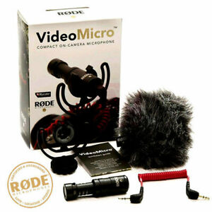 Rode VideoMicro Compact On Camera Lightweight DSLR Video Micro Microphone