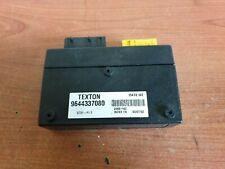 PEUGEOT 206 CC ROOF ECU Control Unit 9644337080 2001-On