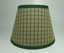 Country Primitive Green Plaid Window Homespun Fabric Lampshade Lamp Shade