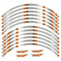 """Wheel Sticker 17""""  Reflective Decals Rim Tape Motorcycle Styling For KTM DUKE"""