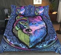 3D Imitated Tattoo Wolf Bedding Set Duvet Cover Comforter Cover PillowCase