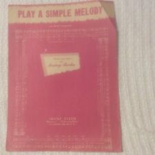 Piano Sheet Music Vintage, 1946, Play A Simple Melody/with Ukulele Arrangement