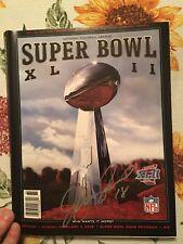 Super Bowl 42 Program.  JEFF FEAGLES autograph on cover.