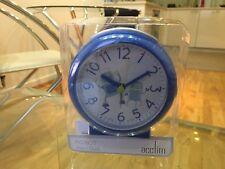 Acctim Robot Blue Bold Kids Sweeping Seconds Quartz Alarm Clock