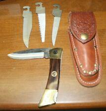 VINTAGE CASE CHANGER 4 BLADE LOCKBACK KNIFE GREAT NORTHERN RAILWAY VERY RARE