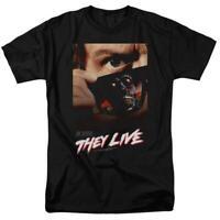 They Live t-shirt retro 80s Sci-Fi movie poster Roddy Piper graphic tee UNI607