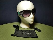 Rustic Couture's Western Faux Diamonds & Turquoise Cross UV400 Sunglasses w Acc.