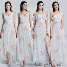 Ever-Pretty Floral Bridesmaid Dresses Long Chiffon Evening Party Dress 07241