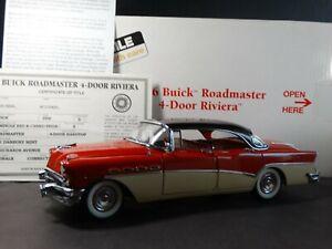 Danbury Mint 1956 Buick Roadmaster Riviera 4-Door 1:24 Scale Diecast Model Car