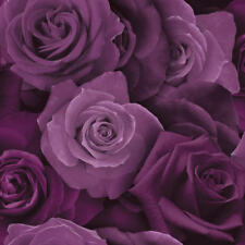 ARTHOUSE AUSTIN ROSE PURPLE FLORAL FLOWERS HEAVYWEIGHT QUALITY WALLPAPER 675601