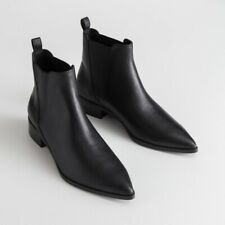 ~* & Other Stories Leather Chelsea Boots Black US 10.5 EUR 41*~