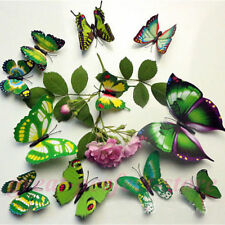 NEW 12 pcs Romantic 3D Butterfly Cute Multi-Color Home Room Wall Stickers Decors