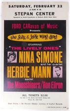Nina SIMONE & Herbie MANN (Jazz): Original 1964 Concert Poster