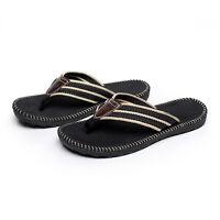 Black Men Flat Flip Flops Casual Slippers Summer Beach Sandals Shoes Size 10-12