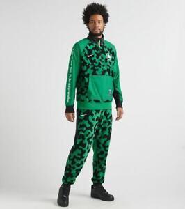 Nike NSW NYC Parks FLEECE SWEATSUIT Quarter Zip Pullover + Fleece Pants Green M