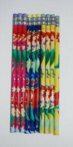 Disney Little Mermaid Pencils Set of 10 Pink Blue Yellow Ariel