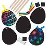 Easter Egg Scratch Art Magnets Decorations Kids Craft Design Party Bag Fillers