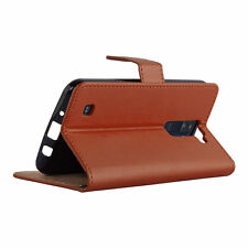Plain Leather Mobile Phone & PDA Cases & Covers for LG with Card Pocket