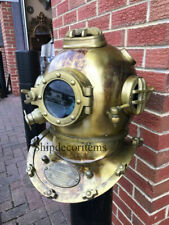 Vintage Scuba Morse Deep Antique Navy Mark Diving Helmet Boston Divers Helmet