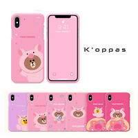Official Line Friends Brown Sally Color Jelly Phone Case Cover For Apple iPhone