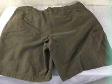 Columbia Mens Shorts Cotton Khaki Cargo Brown 6 Pockets Waist 42