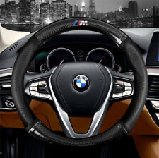 "15"" Car Steering Wheel Cover Genuine Leather For BMW Black New"