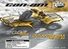 Can-Am Owners Manual 2007 OUTLANDER MAX 500, 650 & 800