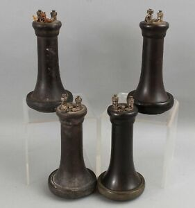 4 RARE Antique Candlestick Wall Telephone OTR Outside Terminal Receivers, NR
