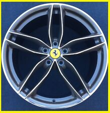 "OEM 20"" FERRARI 488GTB WHEELS FORGED DIAMOND CUT RIMS CAPS 458 ITALIA 488 MINT"
