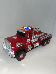 Hess RED Fire Truck BANK with Lights Flashers Rescue Ladder OPENED ONLY FOR PIX