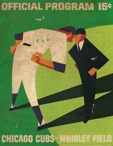1966 Baseball Program San Francisco Giants Chicago Cubs unscored blotchy FR/POOR