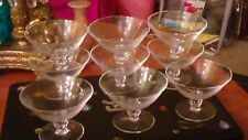 set of 9 Rosenthal etched Crystal  glass stems Crown Mark