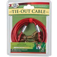 6.1m M 20ft PERRO MASCOTA Cable De Atar Metal Vinilo COLLAR CORREA CADENA