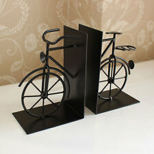Black metal bicycle bike book ends shabby vintage chic retro gift father's day