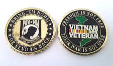 POW MIA VIETNAM VETERAN  Military Veteran CHALLENGE COIN CH0326 EE