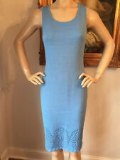 NWT St John Knit dress blue azure size 10 santana sheath