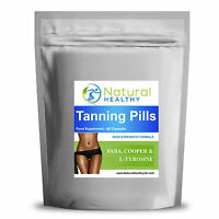 60 TANNING PILLS FAST DARK AND LAST LONGER HIGH QUALITY UK PRODUCT TAN TABLET