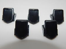 Lego Lot Of 5 Car Or Truck Black Vehicle, Grille 1 x 2 x 2 2/3 Sloping
