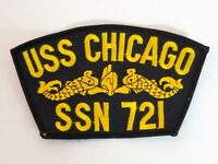 USS Chicago SSN-721 US Navy Ship Patch Submarine NEW Embroidered